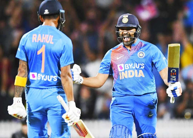 India Newzealand match  Third T20 Shami got the match tied, Rohit in the super over, winning the series by hitting 2 sixes in the last 2 balls.