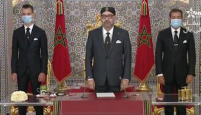 """جلالة الملك في خطاب العرش : """"المغرب والجزائر أكثر من بلدين جارين، إنهما توأمان متكاملان"""