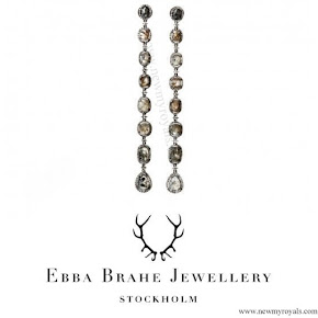 Crown Princess Victoria wore Ebba Brahe Sliced Diamond Long Earrings