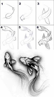 رسم سمكة حوت بطريقة احترافية