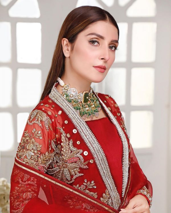 Ayeza Khan in Red Dress