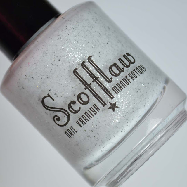 white grey jelly with silver shimmer and holo