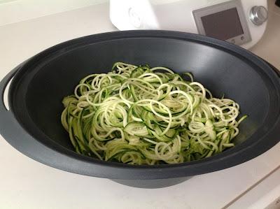 Espaguetis De Calabacin Y Atún