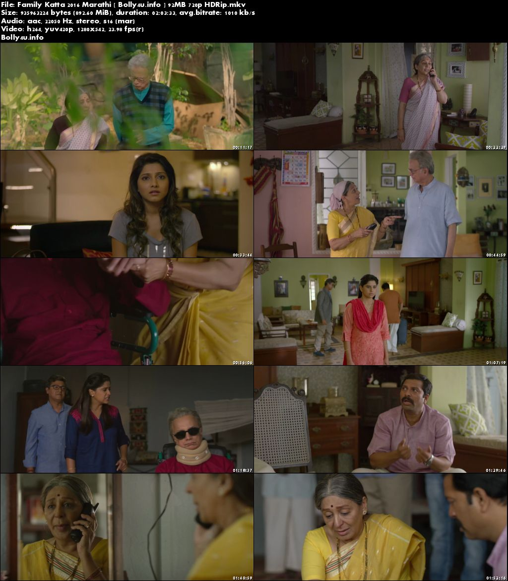 Screen Shoots of Watch Online Family Katta 2016 HDRip 350MB Marathi 480p Free Download Bolly4u.info