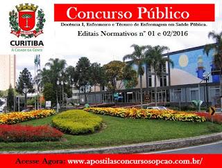 Apostila Concurso Prefeitura de Curitiba (PR) Técnico de Enfermagem - (PDF)