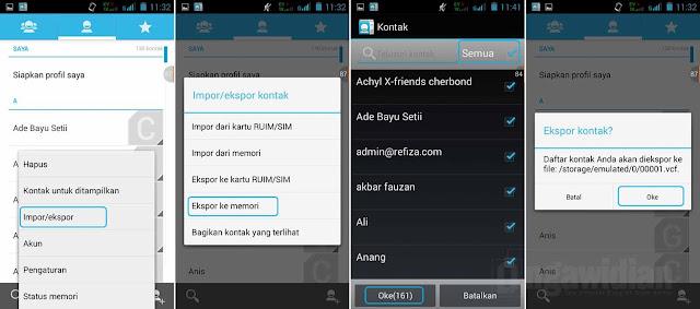 Cara Backup Kontak Nomor Android