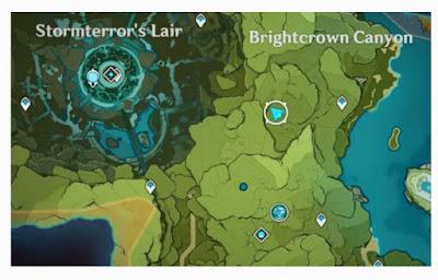 Lokasi Special Treasure Brightcrown Canyon Genshin Impact