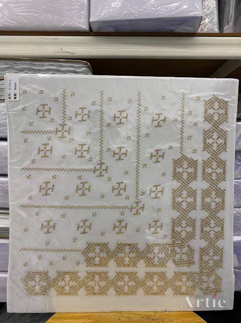 Hotfix stickers dmc rhinestone aplikasi tudung bawal fabrik pakaian bentuk abstrak hexagon gold