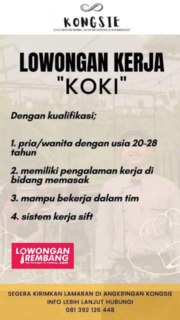 Lowongan Kerja Koki Angkringan Kongsie Pancur Rembang