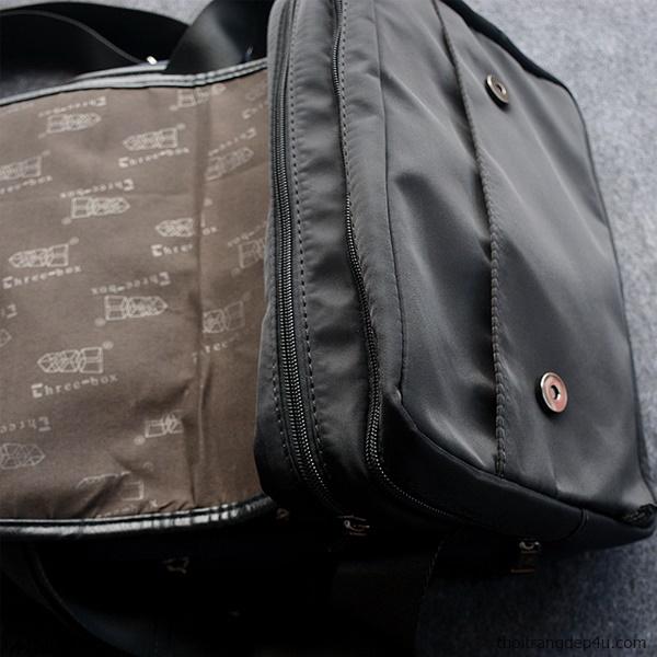 Túi deo chéo thời trang vải dù nam sành điệu DNM022D (Đen)