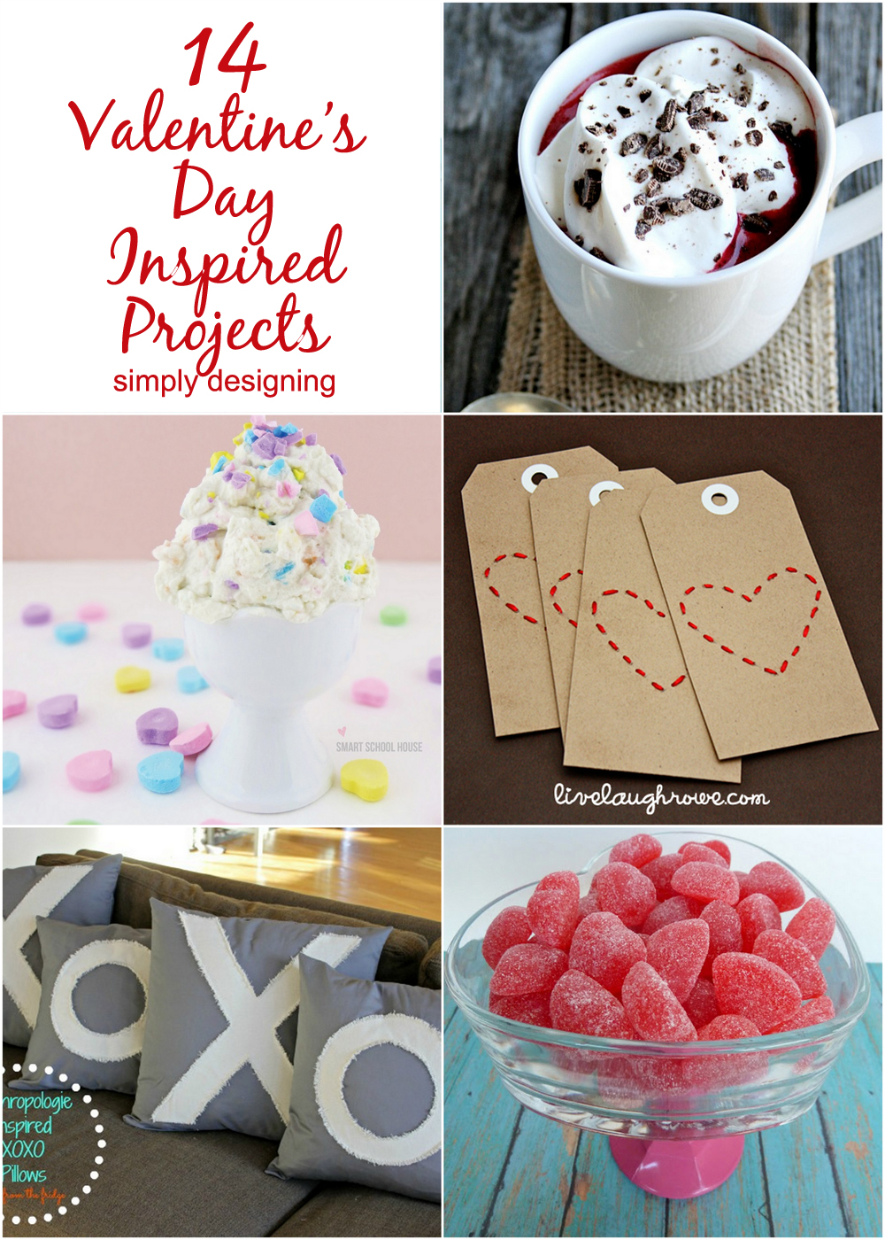 14 Valentine's Day Inspired Projects | #valentinesday #hearts #love #diy #vday