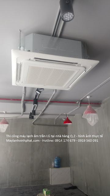 Nhận thi công chuyên nghiệp Máy lạnh âm trần LG – Máy lạnh LG 4HP