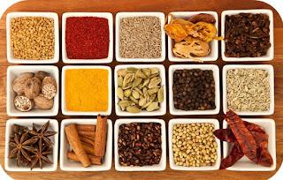 Ingredients for Organic Garam Maala  aka Hot Spices.