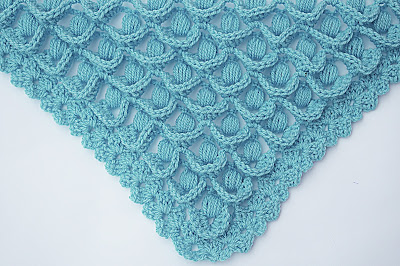 8 - Crochet IMAGEN Punto para chal muy fácil y sencillo. MAJOVEL CROCHET