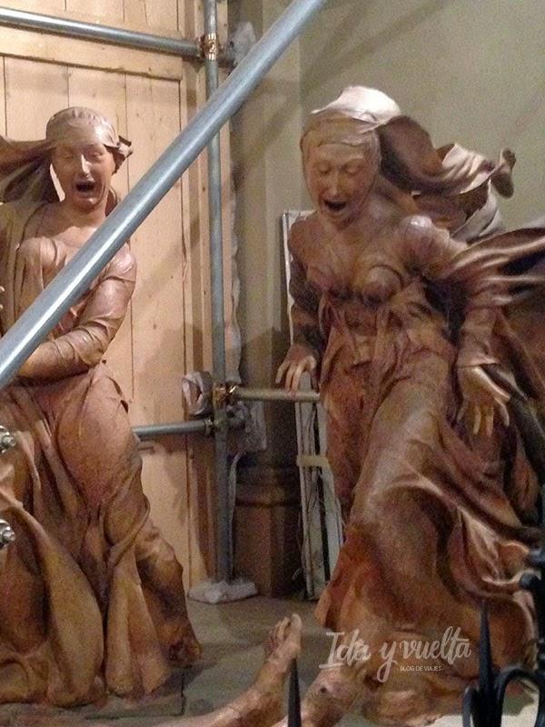 Otras dos figuras del Compianto de Santa María della Vita