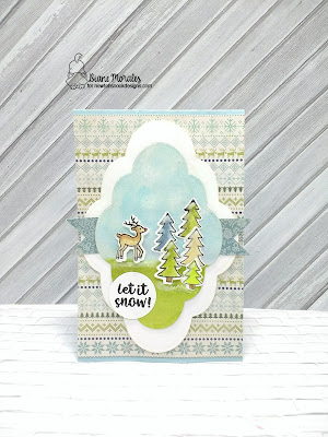 Let It Snow a card by Diane Morales| Snow Globe Scenes Stamp Set by Newtons Nook Designs