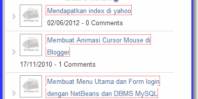 Membuat widget Random Post Blogger