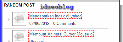 Membuat widget Random Post Blogger