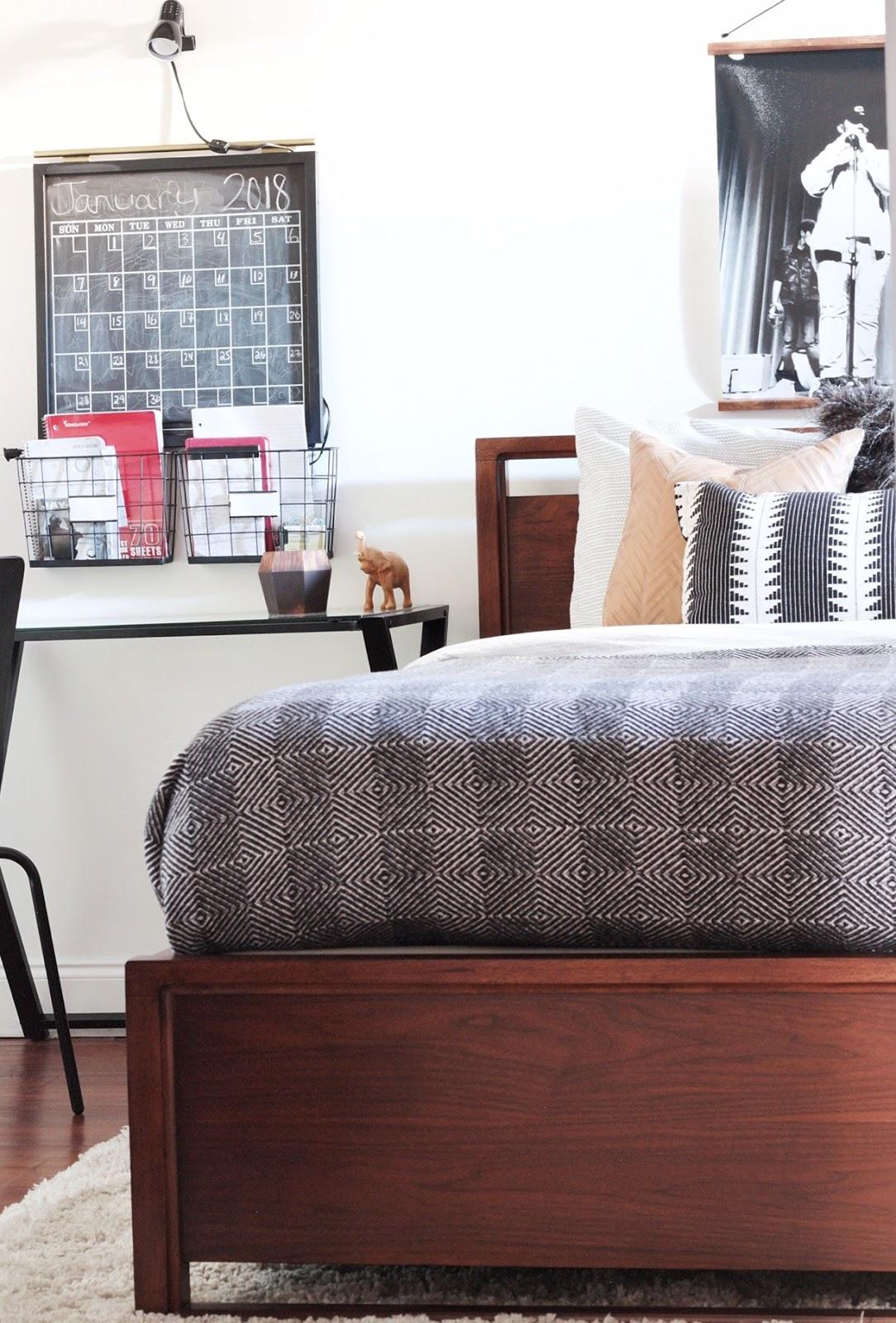 Made by Carli: Teen Boy's Basement Bedroom Reveal on Teenager Basement Bedroom  id=12065