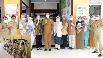 Walikota Pariaman Pinjamkan Ventilator ke RSUD M Djamil Padang