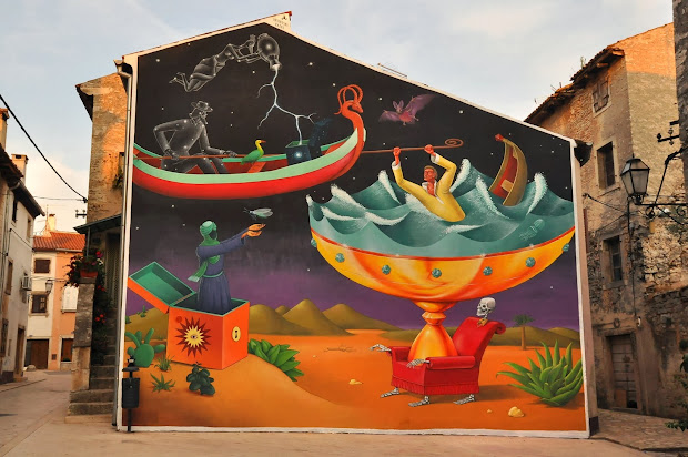 Surreal Wall Mural Art Paintings Interesni Kazki