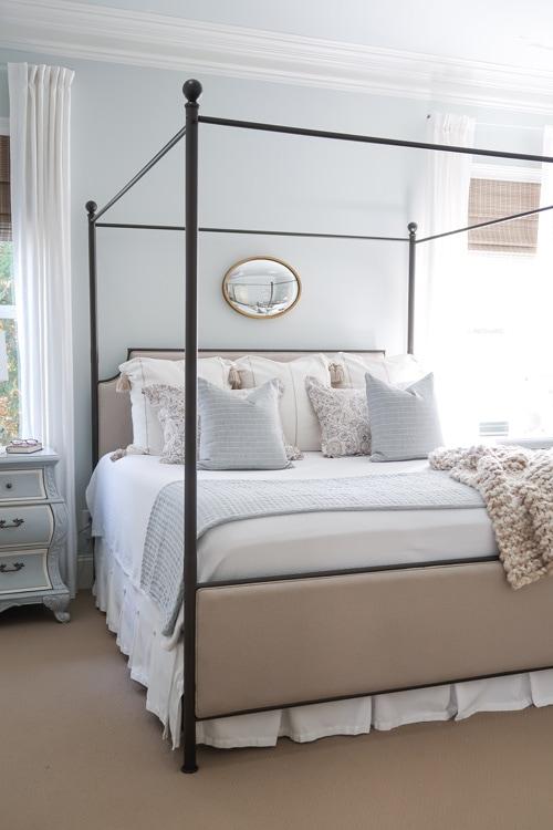 bedroom painted with benjamin moore quiet moments