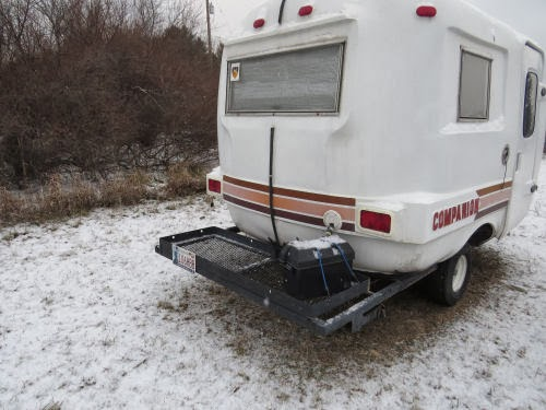 rear of Companion travel trailer