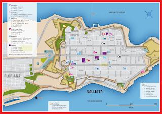 Mapa de La Valletta.