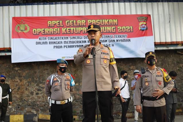 Apel Gelar Pasukan Operasi Ketupat Maung 2021 Polres Cilegon