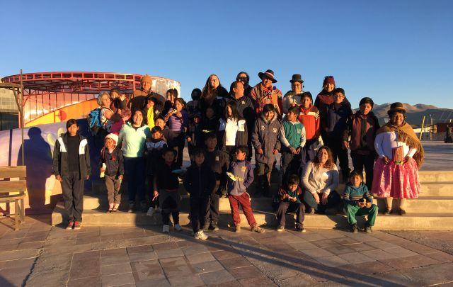 Astrónomos regionales se reunieron con niños de la comunidad Aymara de Visviri