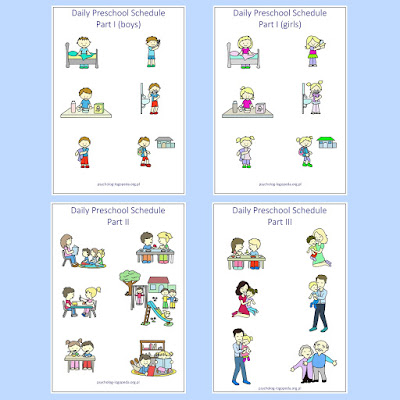 preschool agenda schedule