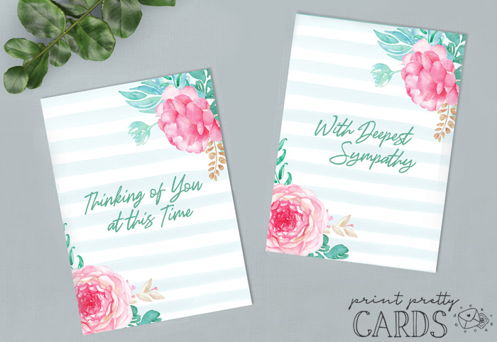 Thinking of You Sympathy Cards