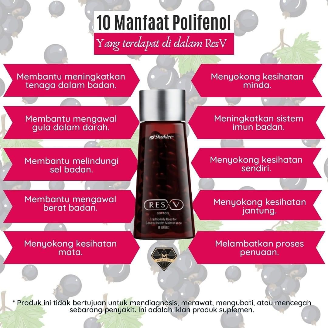 Petang ni mommy nak share manfaat ResV. Siapa yang pernah minum Vivix, wajib try resV.  5 bahan tambahan dalam ResV berbanding vivix, iaitu :  1. Buah Kaduka (Chebulic Myrobalan)  • Menyokong kesihatan penghadaman dan proses pembersihan semulajadi badan • Membantu dalam masalah buasir dan batuk • Menyokong paras gula darah yang sihat • Menyokong fungsi hati dan peparu yang sihat  2. Anggur Hitam  • Antimikrob • Anti keradangan • Antiviral • Antitoksik • Antiseptik • Menguatkan sistem imunisasi badan • Melegakan sakit tekak • Meredakan gejala selsema  3. Buah Delima  • Antioksidan yang berkuasa • Mengandungi sifat anti bakteria dan antiviral, membantu melawan jangkitan • Boleh menguatkan sistem imunisasi anda • Menggalakkan kesihatan sendi dan jantung  4. Hampas Anggur dan Anggur Merah  • Mengawal tekanan darah • Mengurangkan keradangan akibat tekanan oksidatif • Membaiki aliran darah • Melindungi jantung  Korang kena Try ResV, Nak tau kenapa? Sebab,  ResV ni lebih power 30% dari Vivix dari segi   ✔️ Anti penuaan (awet muda) ✔️ Penggalak tenaga ✔️ Tingkatkan sistem imun badan ✔️ Kawal gula dalam darah ✔️ Tingkatkan tenaga sel ✔️ Kuatkan ingatan dan minda ✔️ Kesihatan jantung ✔️ Untuk slim dan kurus ✔️ Kesihatan mata  Jika anda nak cuba resV, boleh bagitau mommy ya. Untung sangat bila anda beli ResV, terus dapat ahli secara percuma. 😍  Whatsapp mommy untuk grab resV anda, 019-9966576  #resVshaklee #resveratrol #ResV #shakleepaka #shakleebangi #codshakleebandarbarubangi #agenshakleebangi #agenshakleebandarbarubangi #agenshakleebangikajang #readystokshakleebangi #resVreadystokbangi #resvshakleemurah #resvshakleemalaysia #resvshakleekeahlianpercuma #beliresvdapatkeahlianpercuma