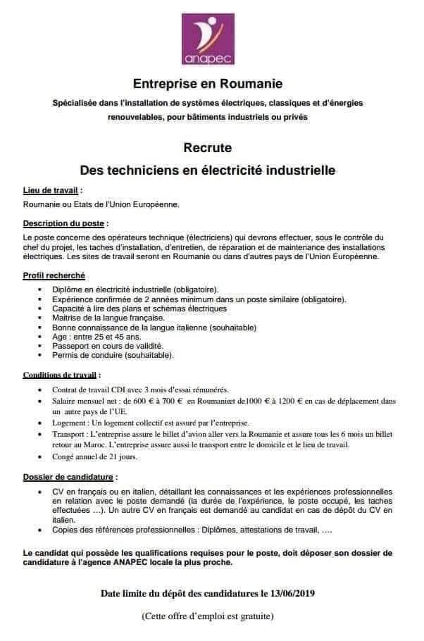 Recrute Techniciens En Electricité Industrielle Le Salarié