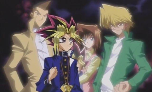 Tristan, Yugi, Tea and Joey wheeler friendship in Yu-Gi-Oh anime show