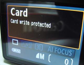 Kamera tidak Bisa Menyimpan Media Card Write Protected