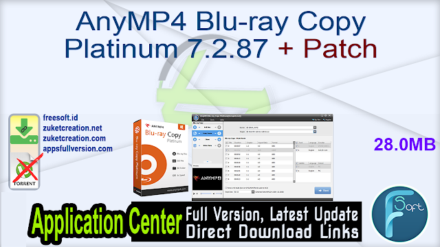 AnyMP4 Blu-ray Copy Platinum 7.2.87 + Patch
