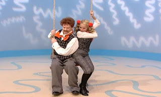 Mr. Noodle and his sister Mrs. Noodle try to show us how to take turns on a swing. Sesame Street Elmo's World Friends The Noodle Family