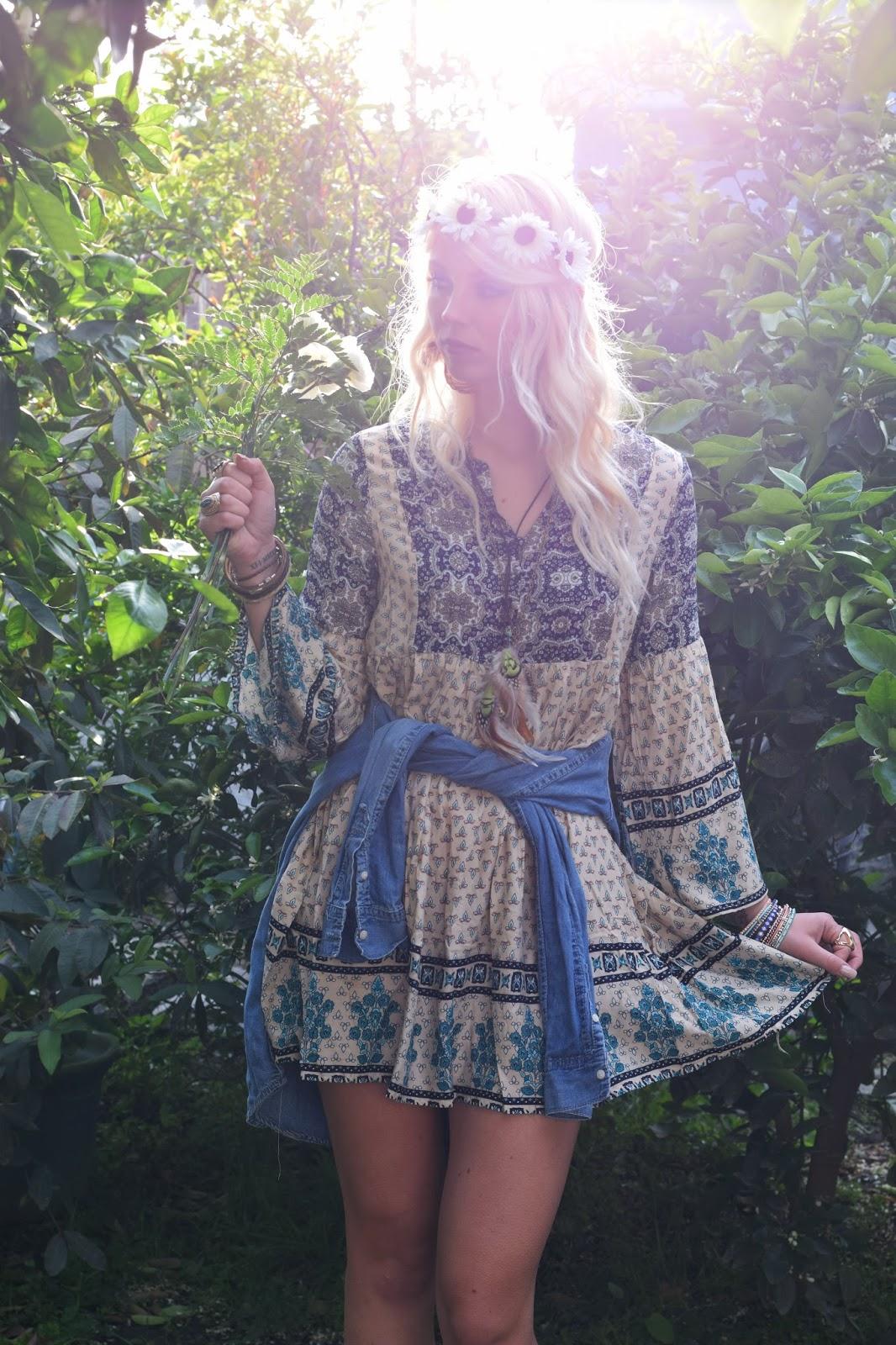 boho, coachella, festival, flower crown, bohemian, what to wear for coachella