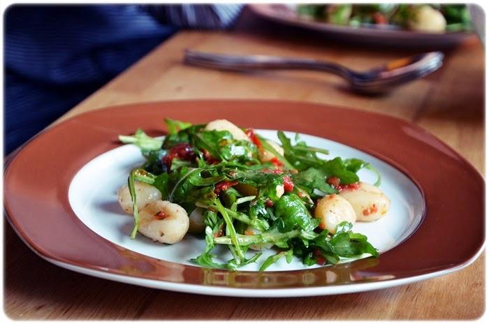 Gnocchi-Rucola-Salat