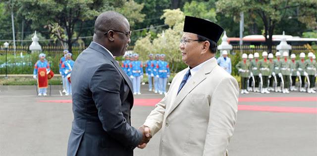 Bertemu Prabowo, Menhan Ghana Tertarik Beli Produk Alusista Indonesia