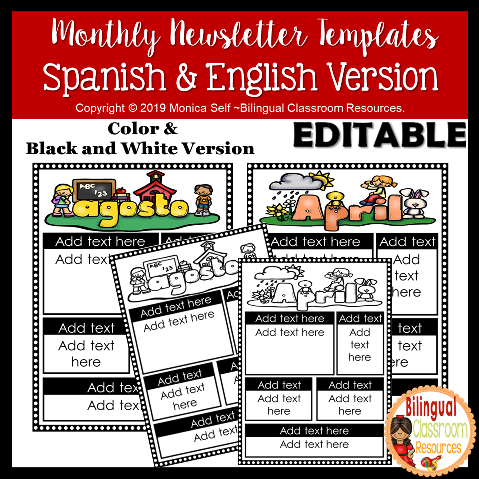 Editable Newsletters to keep your parents informed of classroom happenings. These templates allow you to modify many elements within the newsletter to personalize it and make it work for you!