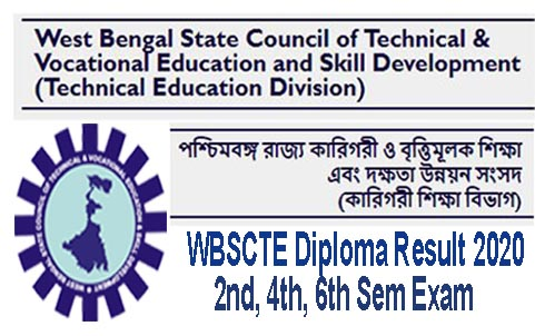 WBSCTE Diploma Result 2nd, 4th, 6th Sem Exam June 2020