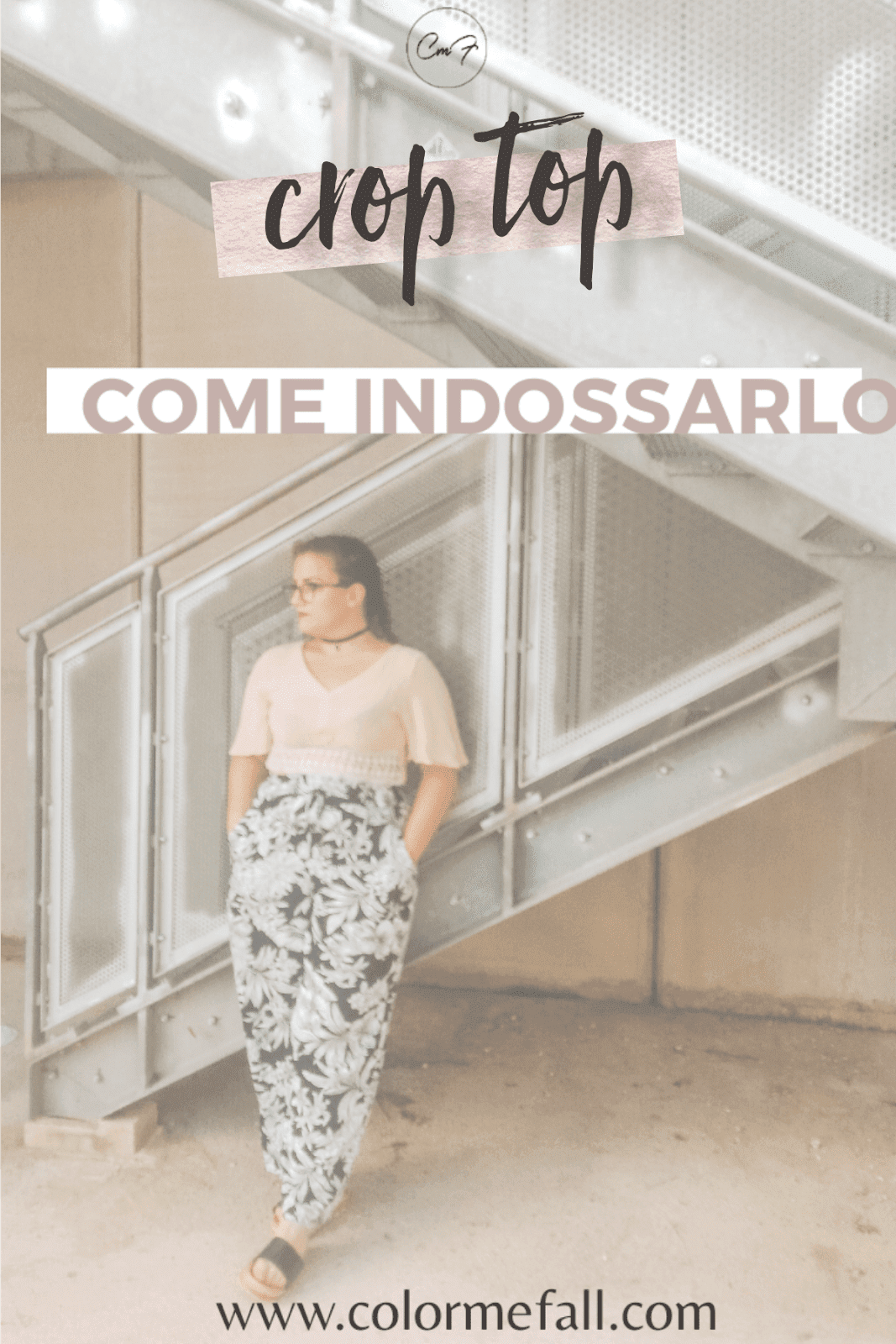 grafica pinterest su come indossare il crop top