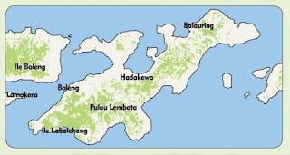 Peta Pulau Lembata, Provinsi Nusa Tenggara Timur