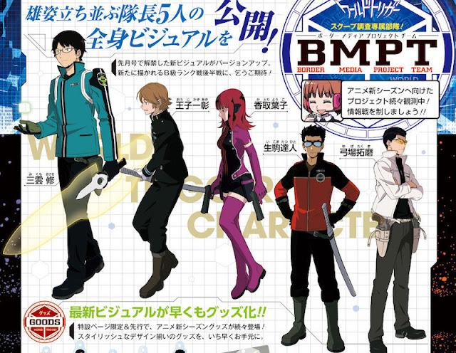 World Trigger muestra sus diseños de personaje.