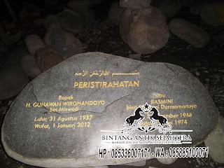 Jual Nisan Batu Alam, Nisan Batu Kali Murah, Nisan Batu Alam