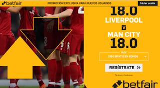 betfair supercuota Liverpool vs City 10 noviembre 2019