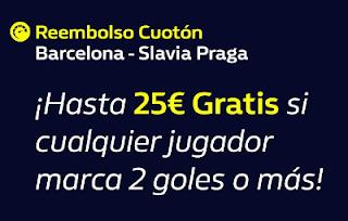 william hill reembolso Barcelona vs Slavia 5-11-2019