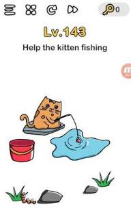 jawaban Kucing Sedang Memancing Brain Out
